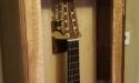 guitar hanging closeup