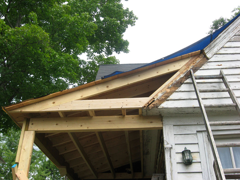 Victorian porch addition for Gable roof addition