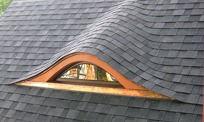 A recently finished reproduction eyebrow dormer